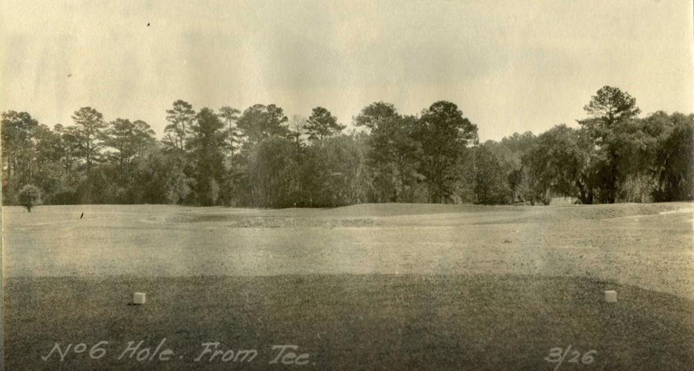 The redan tee shot at Yeamans Hall