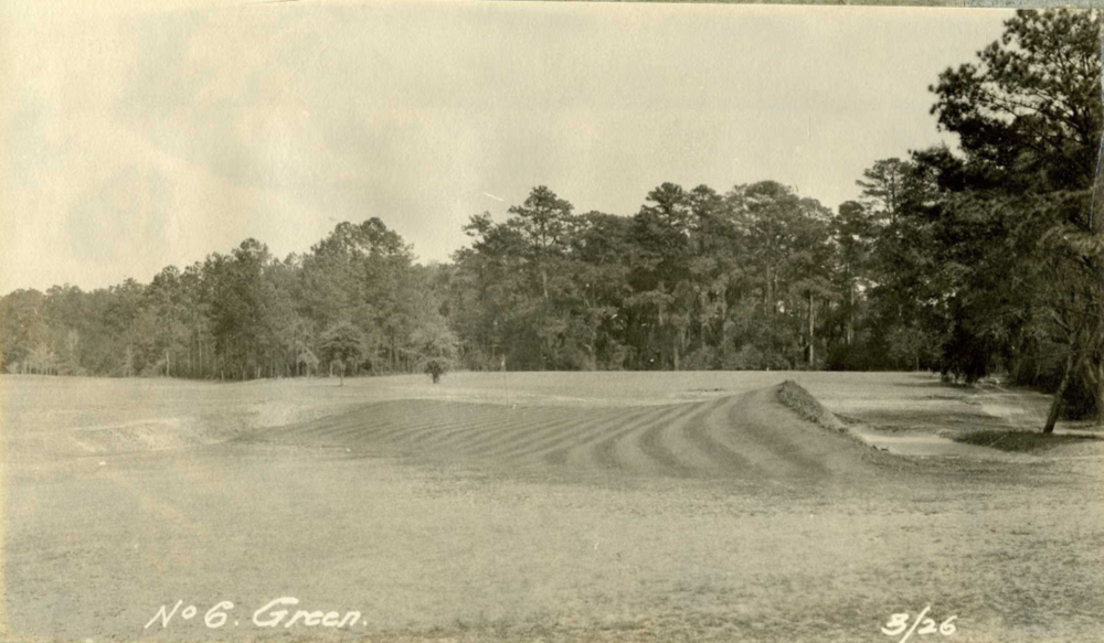 The 6th green at Yeamans Hall in 1926