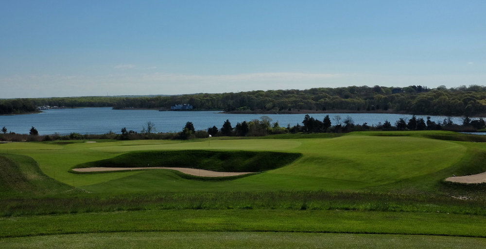 The tee shot at the 4th at NGLA  Photo Credit:  J on Cavalier  @linksgems