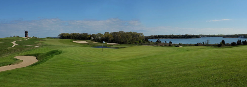 The front shoulder on the 4th green. Photo Credit:  J on Cavalier  @linksgems
