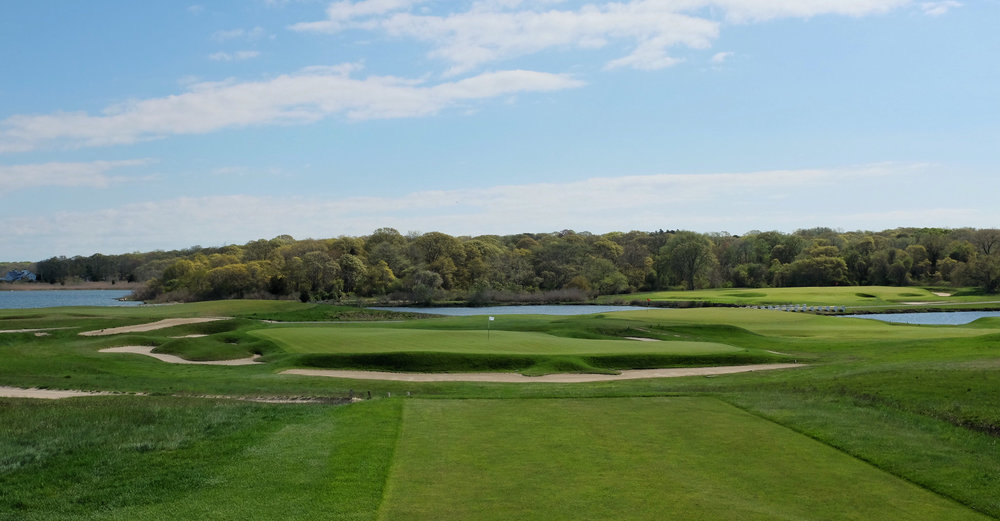 the 6th tee shot at NGLA.  Photo Credit: Jon Cavalier   @linksgems
