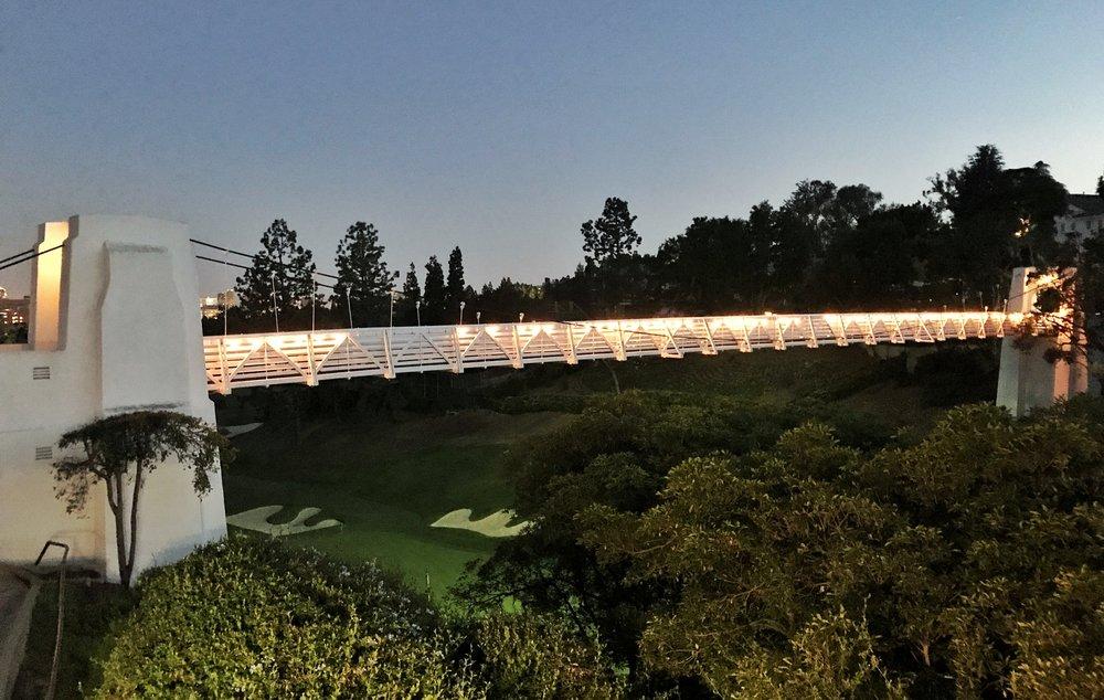 The famed Swinging Bridge Photo Credit: Jon Cavalier  @linksgems