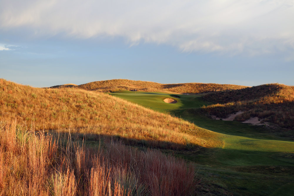 The natural perch of the 11th at Ballyneal makes the hole appear it has been there forever.