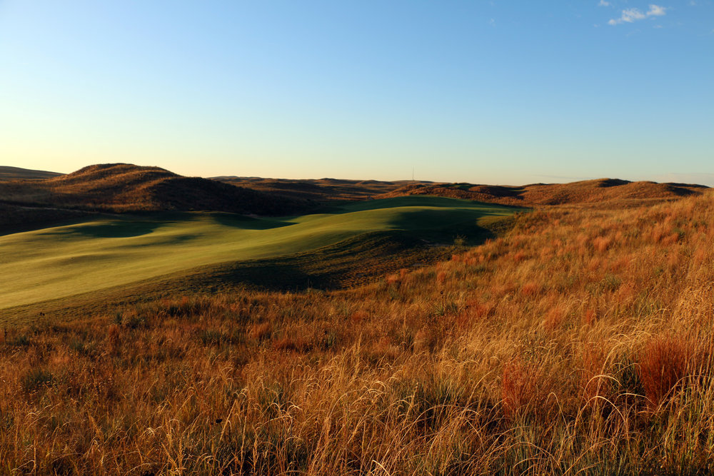The rolling 17th fairway at Ballyneal.