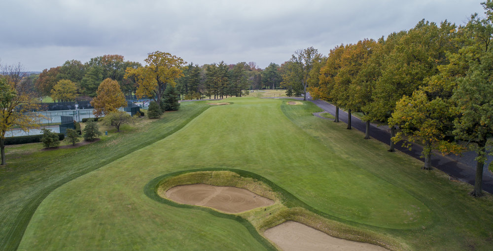 The short par 5 15th calls for a long-iron or fairway wood approach to the double plateau green complex.