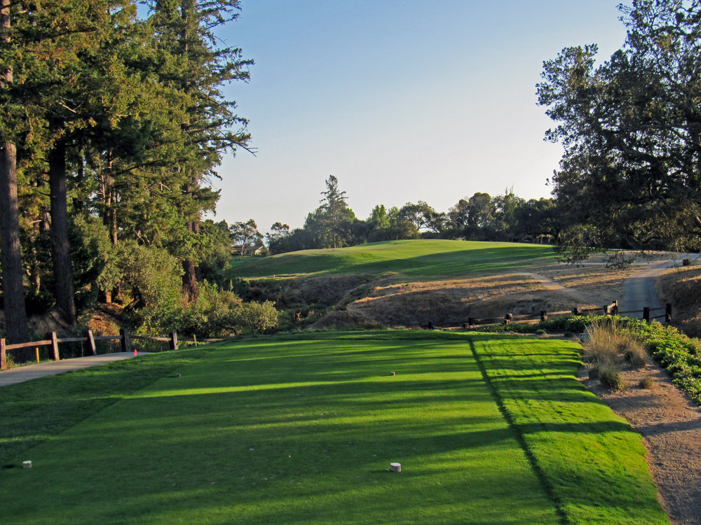 The blind 16th tee shot at Pasatiempo