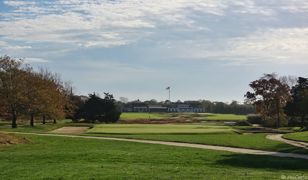 The 17th tee shot at Westhampton Photo Credit: Jon Cavalier  @linksgems