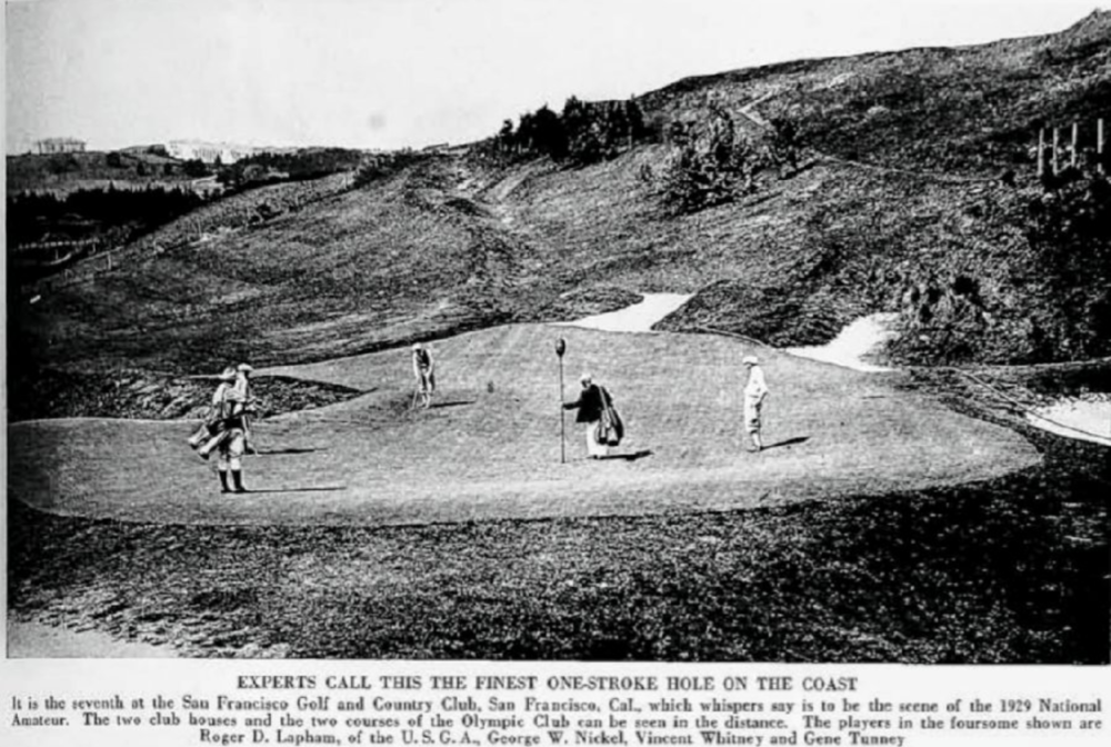 The 7th green at San Francisco Golf Club from the 1929 US Am Photo Credit: Simon Haines  @hainsey76