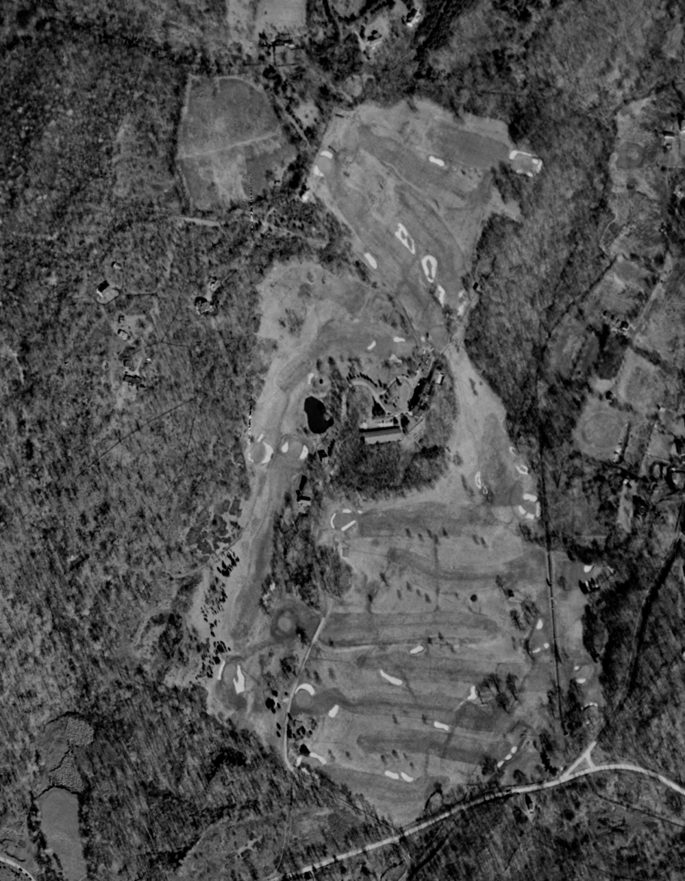 The layout of St. Andrew's Golf Club - 1953 Aerial.