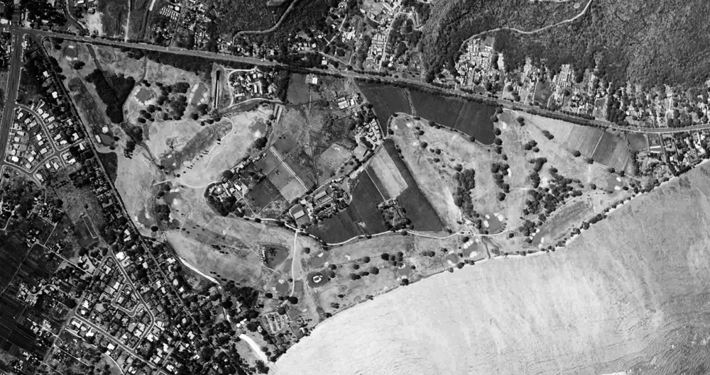 1952 Aerial of Waialae CC. Photo Credit:  @bottomgroove