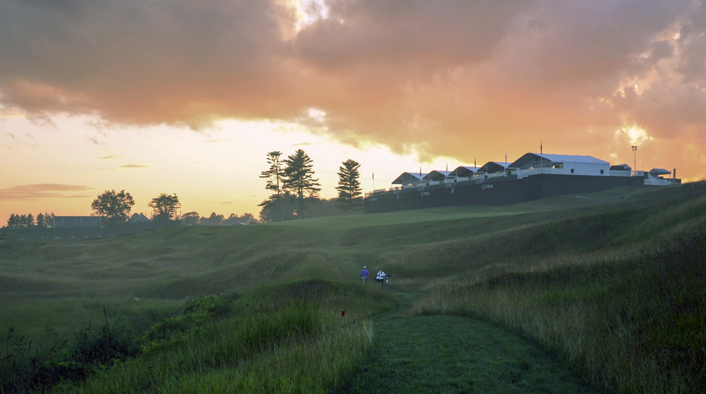The 18th at Whistling Straits in the 2016 PGA Championship Photo Credit:  DJ Piehowski