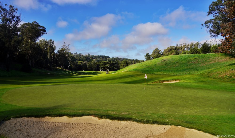 The fifth green at Cal Club Photo Credit:  @linksgems