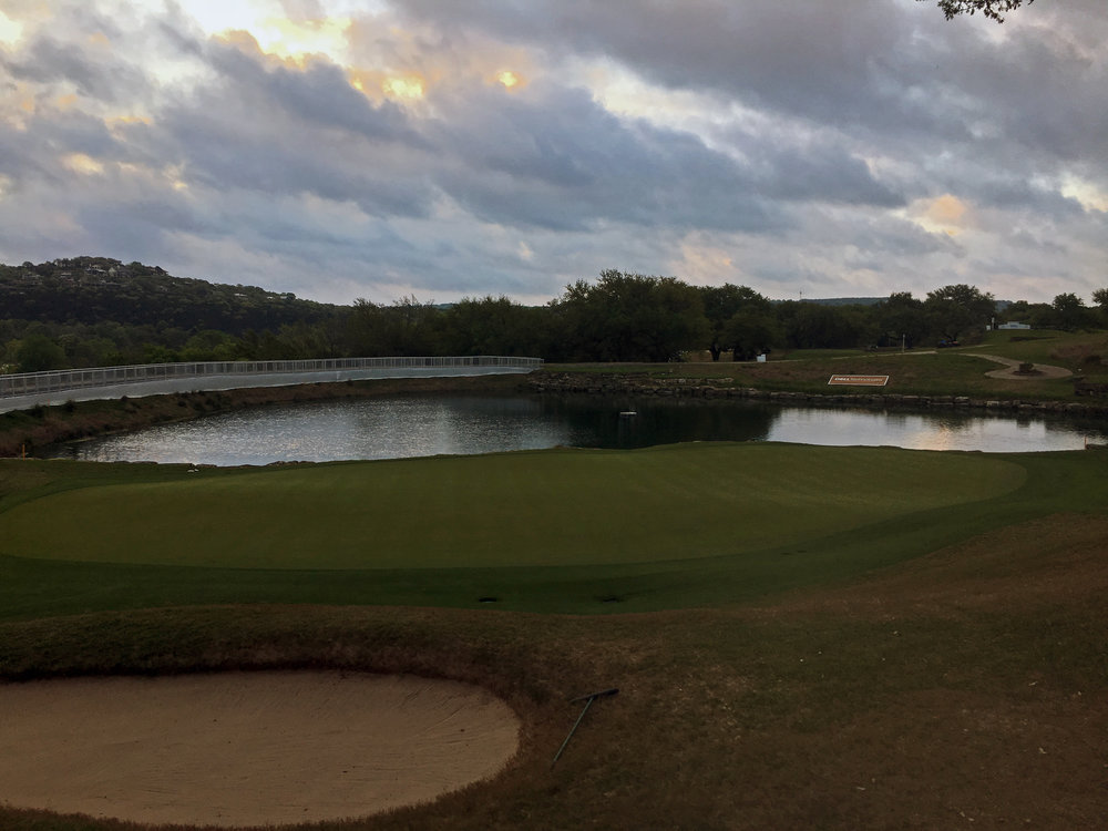 The 13th green at Austin Country Club