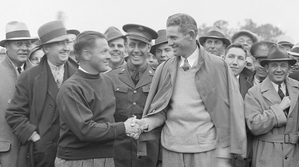 Horton Smith after winning the 1934 Masters.