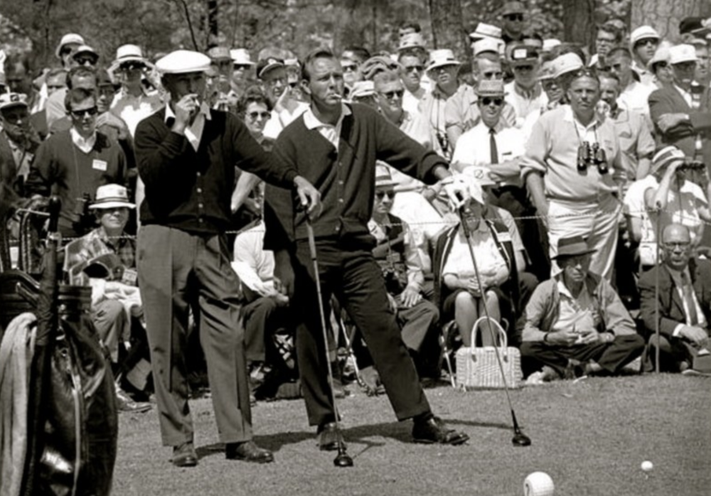 Ben Hogan and Arnold Palmer at the Masters.
