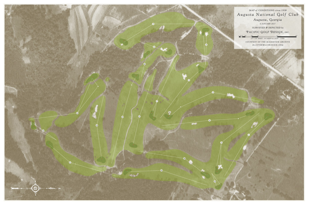The original design of Augusta National Photo Credit:  @DoctorMacKenzie