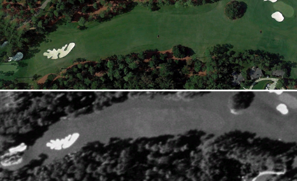 The 10th in 1999 (bottom) and today (top)