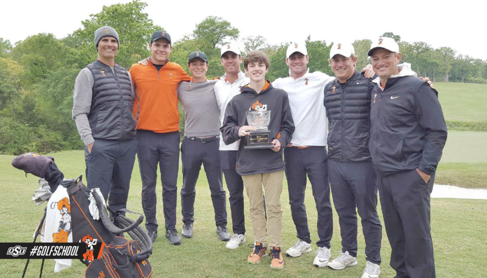 The Oklahoma State golf team.