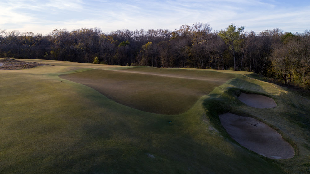 The 17th green at Trinity Forest