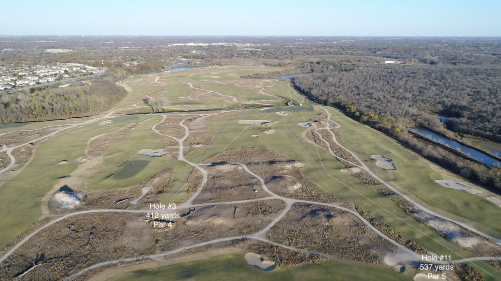 How the double green at Trinity Forest works