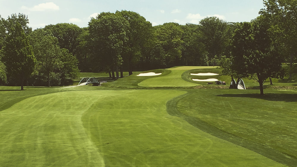 The par 4 3rd on the North Course at Olympia Fields