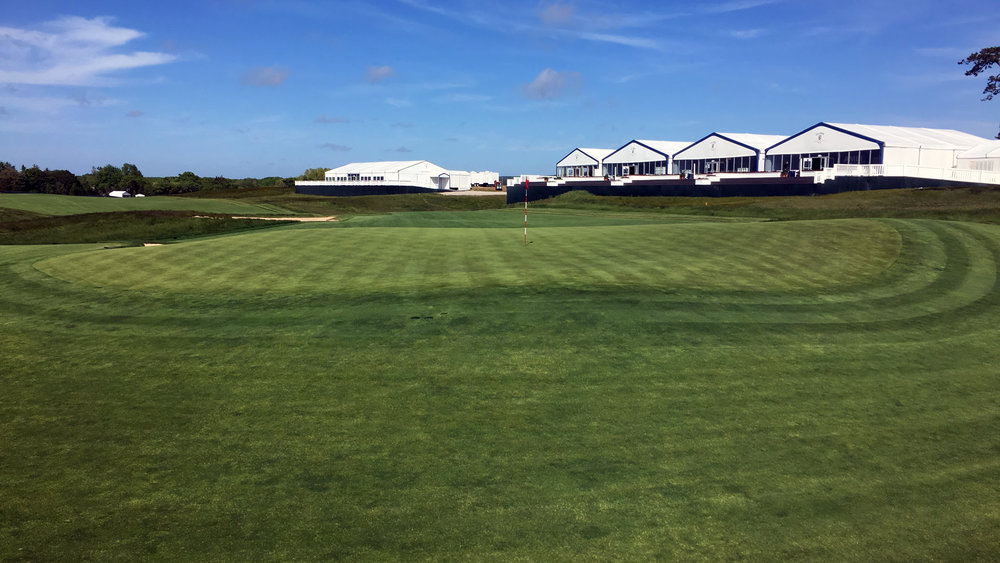 Behind the 13th green