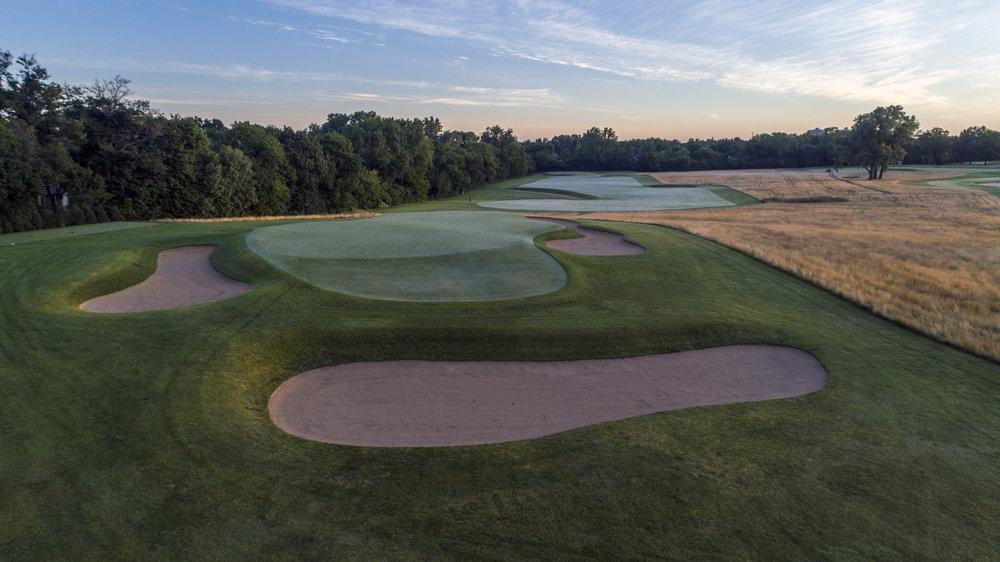 The par 3 13th at Chicago Golf Club