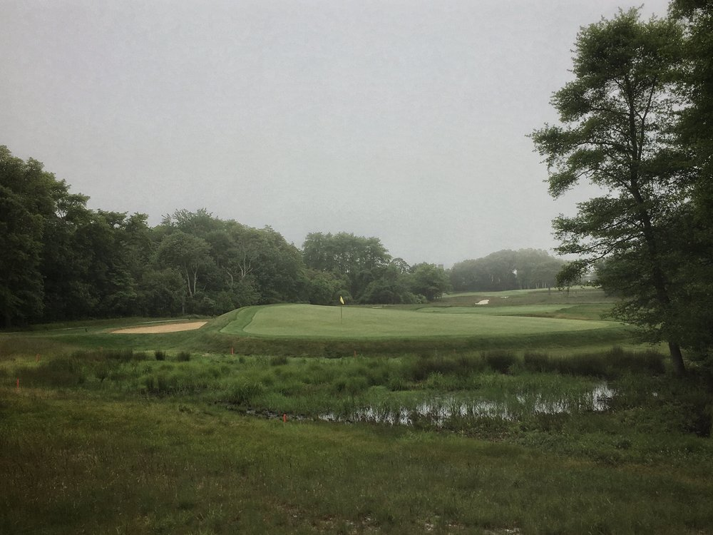 Looking back at Southampton Golf Club's 7th.