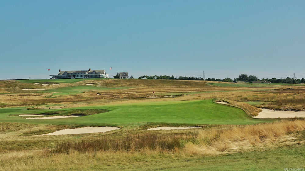 Macdonald and Raynor's redan on the 7th at Shinnecock Hills. Photo Credit: Jon Cavalier  @linksgems
