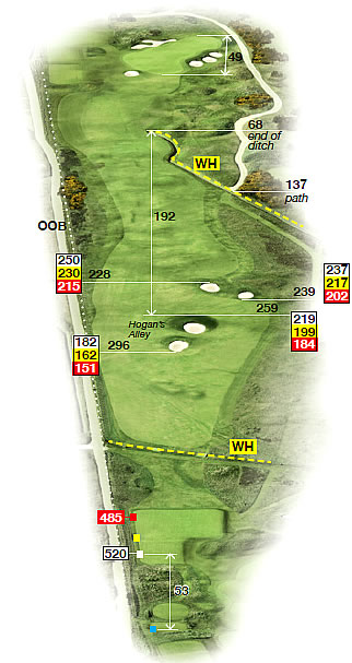 A diagram for the 6th (from non-championship tee) Credit: Carnoustie Golf Links