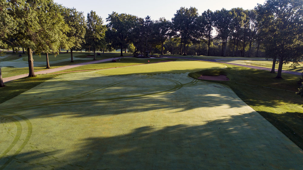 A look at the 4th green and pot bunker.