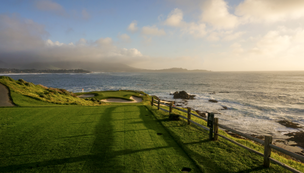The 7th hole at Pebble Beach. Photo Credit: DJ Piehowski  @djpie