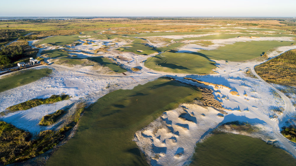 Streamsong Black's 2nd, 9th and 7th greens
