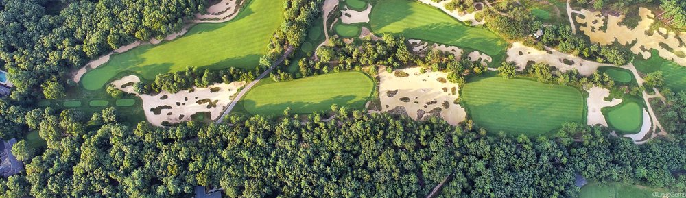 A Look at the 7th at Pine Valley from above Photo Credit: Jon Cavalier  @linksgems