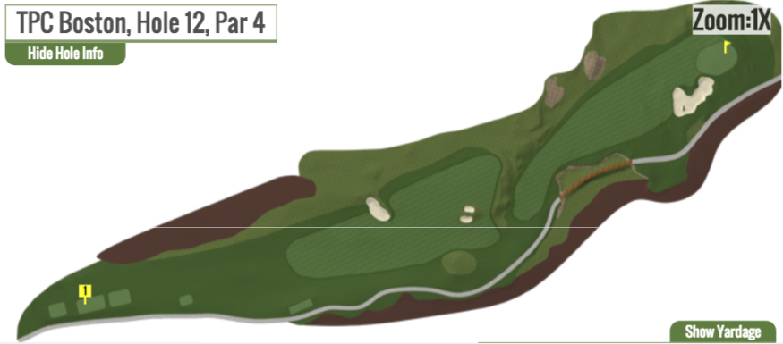2017's version of the 12th at TPC Boston