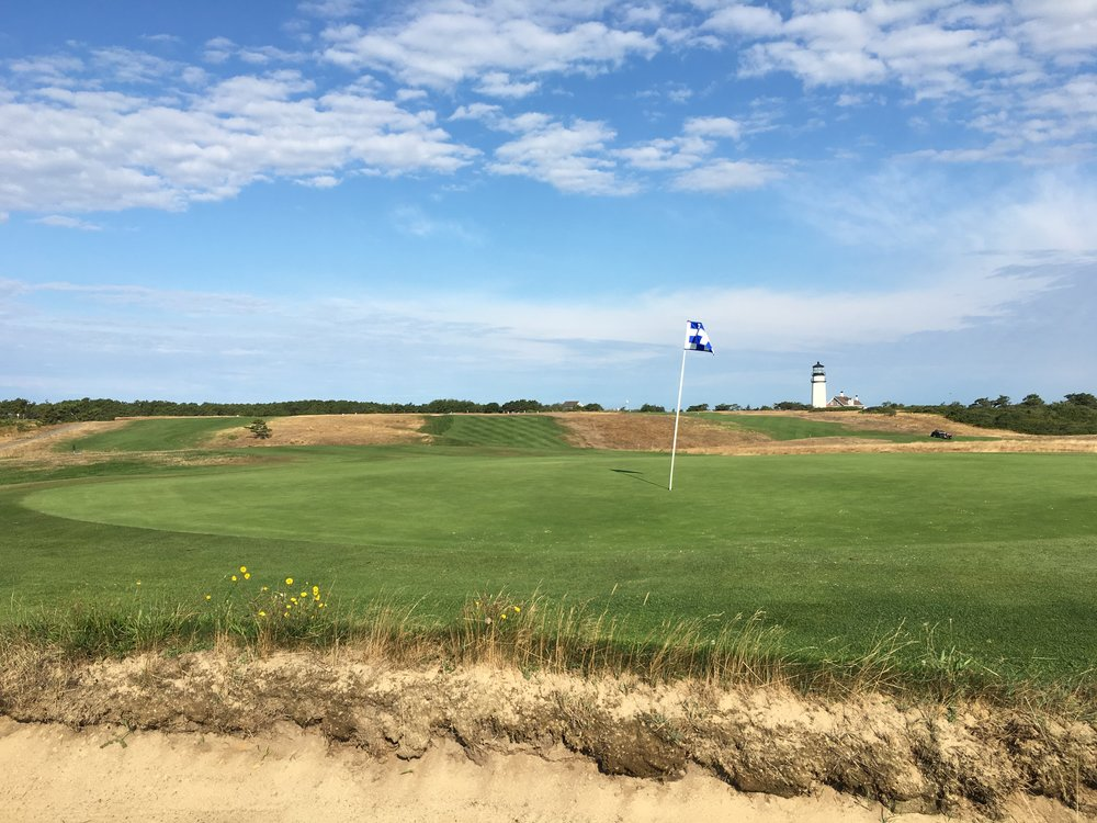 The 5th green at Highland Links