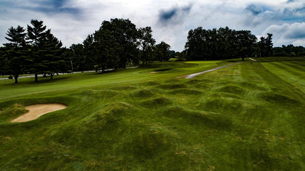 The field of hummocks on hole 11