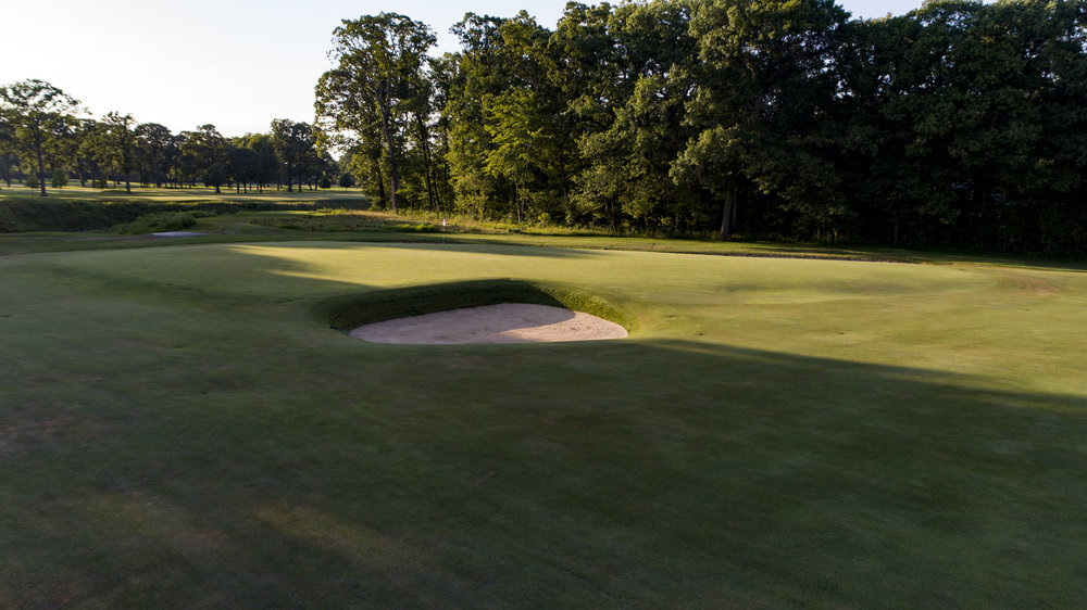 A look at the 10th green from the 8th green at Shoreacres.