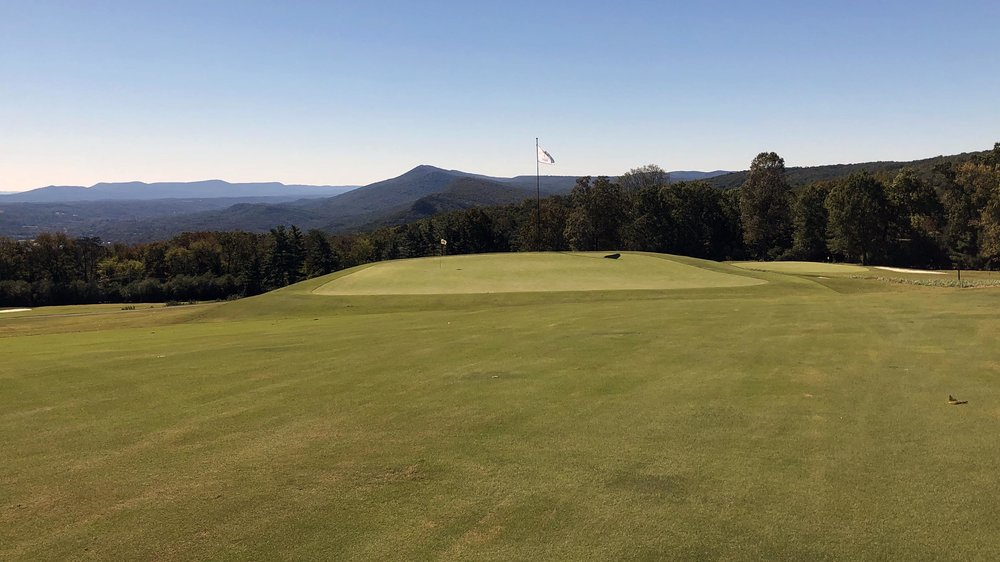 The look at the 11th green at Lookout Mountain.