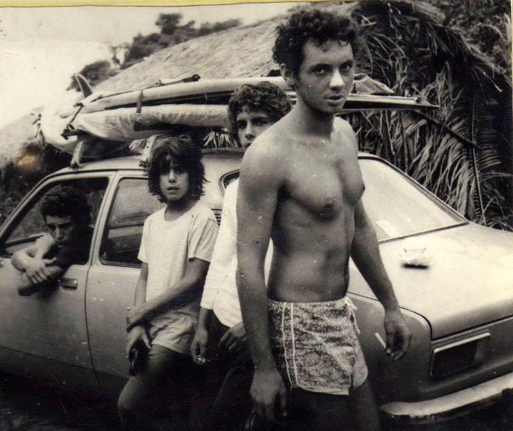 Charly, Albertinho, Augusto e Ilan Goldstein nos ranchos da Trindade. Foto Andy Goldstein.jpg