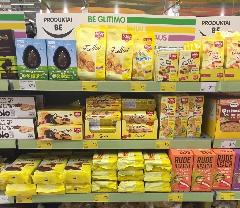 """""""Schar"""" produktų pasirinkimas Rimi parduotuvėse"""
