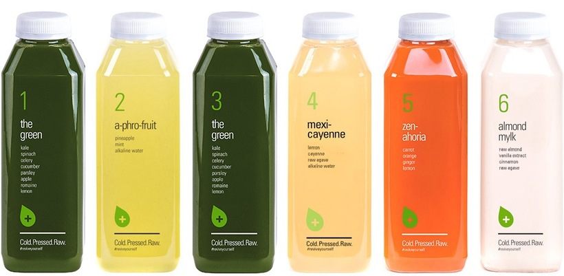 Level 1 Level 1 is recommended for first time cleansers. This level has the largest taste variety and is a great way to get to know our juices. Level 1 consists of two green juices, one a-phro-fruit, one mexi-cayenne, a zen-ahoria, and an almond mylk. Each cleanse includes six 16 oz. juices