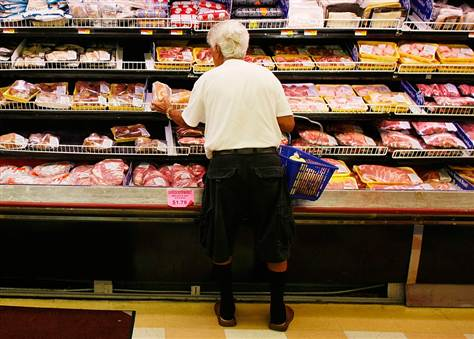 Over 50% of meat at grocery stores contains anti-biotic resistant bacteria.