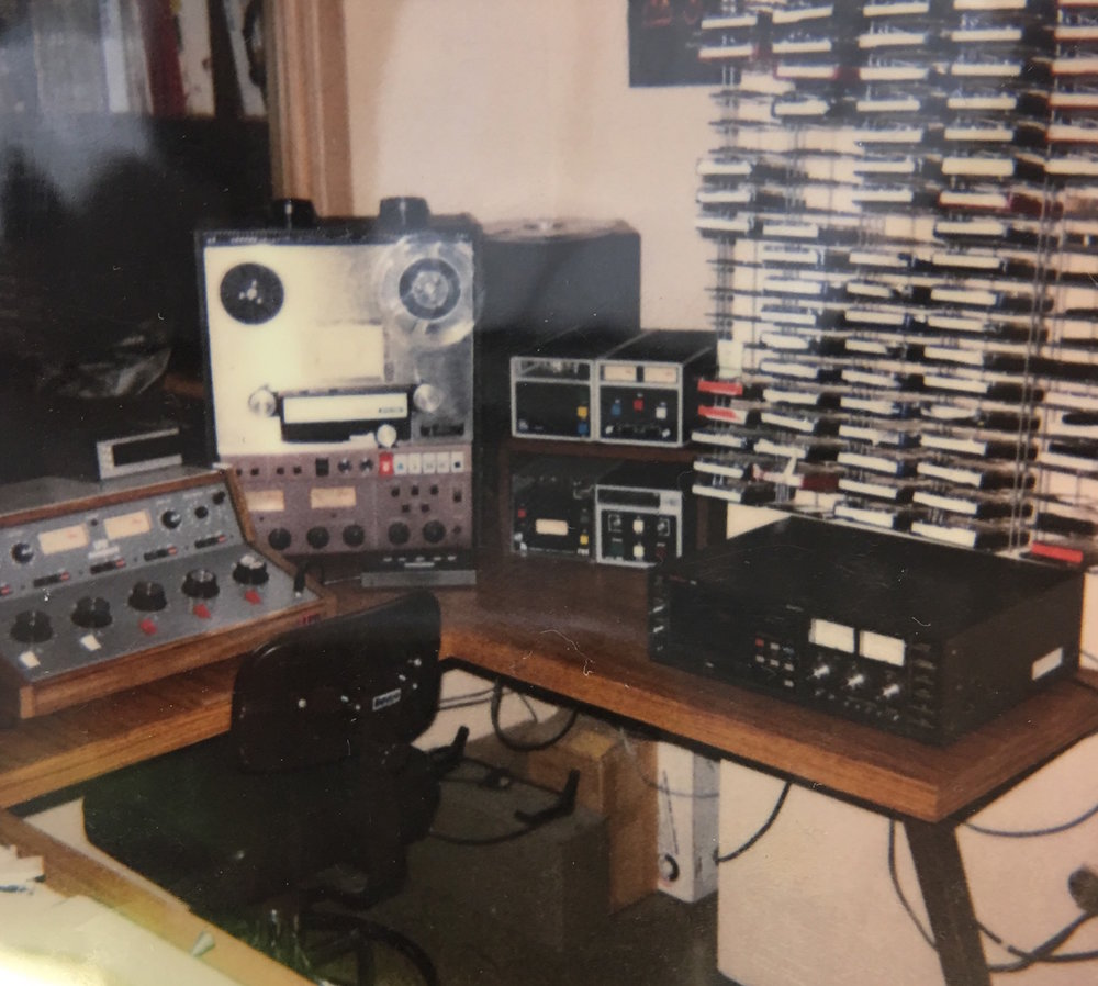 The WLTL Production Room circa 1990