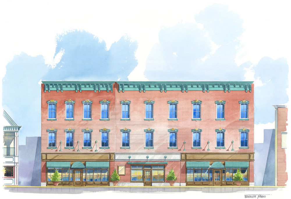 Historic Renovation - Historic Renovation – New Ground Floor Façade, 12 Residential Apartments, New Ground Floor Lobby and Retail Spaces; Red Bank, NJ