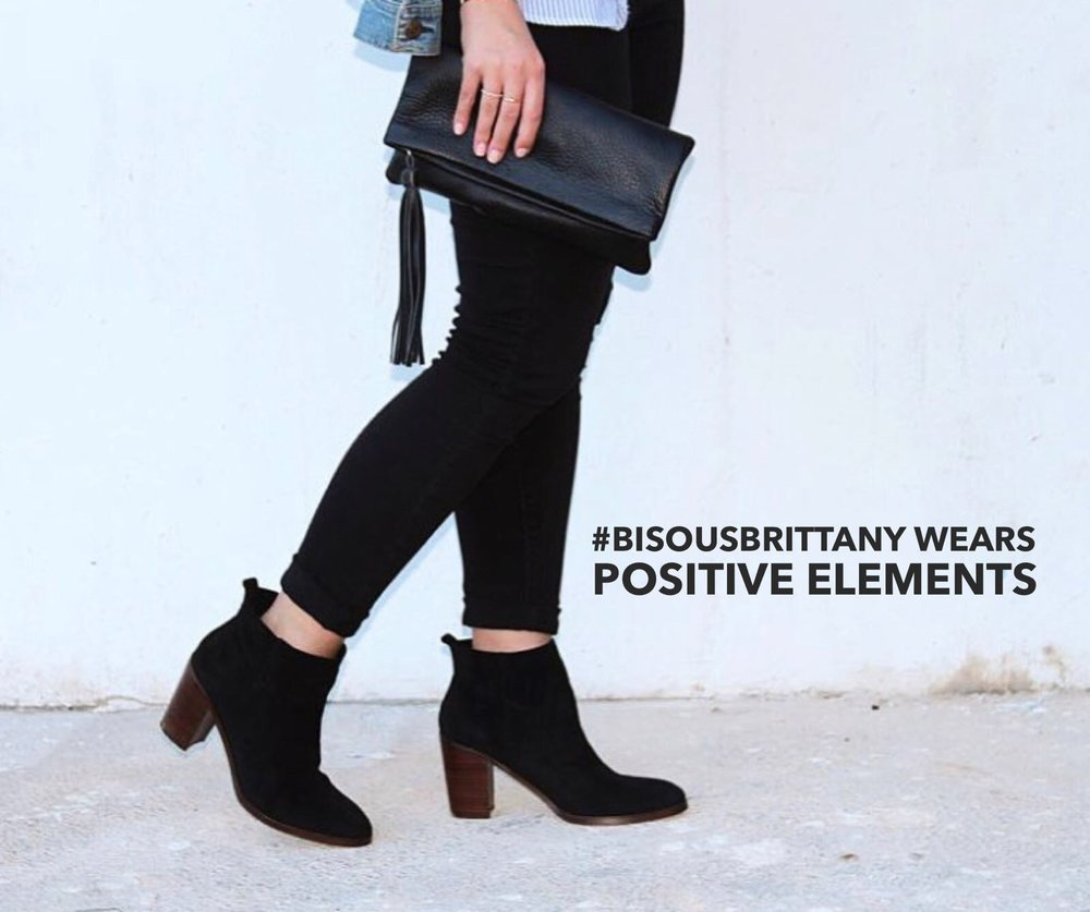 Positive Elements Leather FOLD OVER CLUTCH