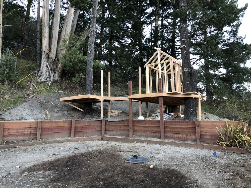 Treehouse in Marin, Mill Valley, Francisco's Gardening and Maintenance - 10 framing and roof 3.jpeg