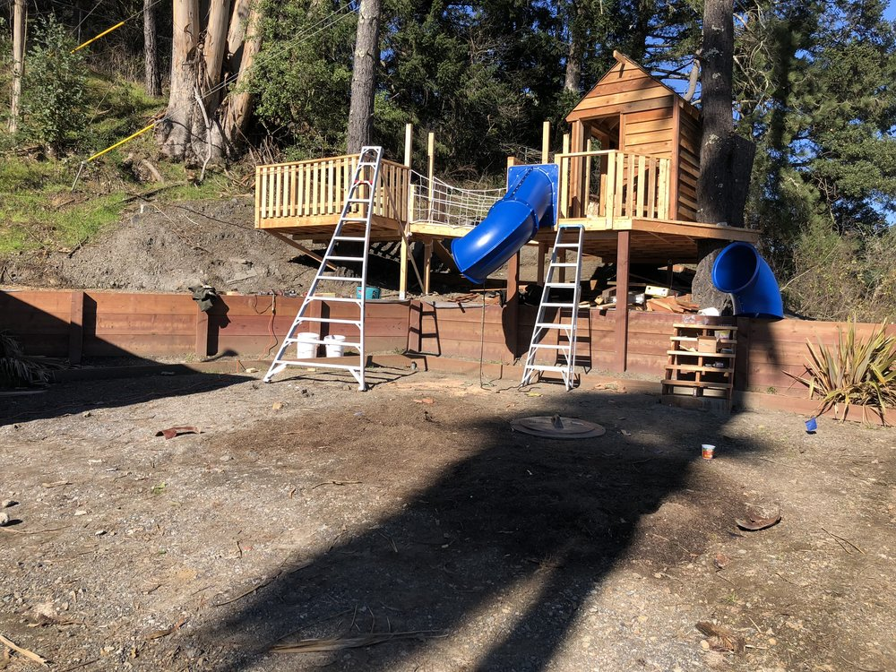 Treehouse in Marin, Mill Valley, Francisco's Gardening and Maintenance - 22 treehouse with slide build 3.jpeg