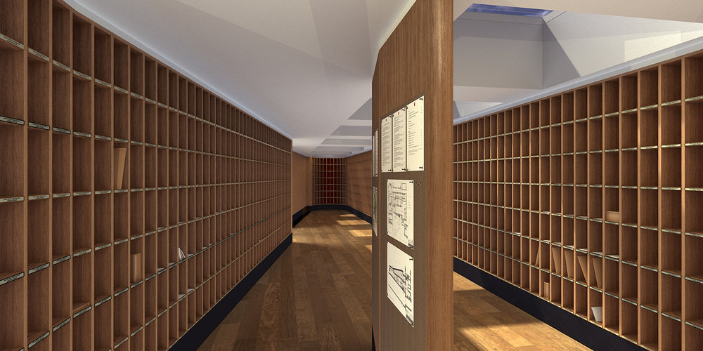 Cambridge: Proposed Post Room within the Porters' Lodge at Jesus College  Visualiser: Jonathan Pyecroft