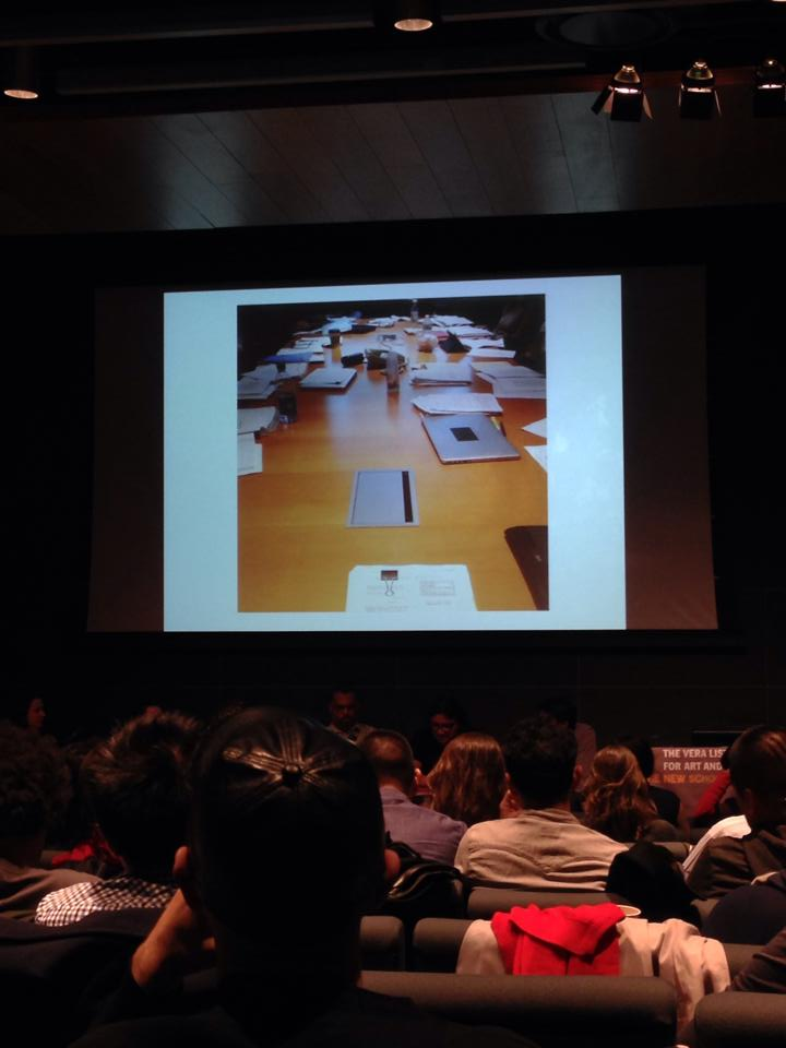 Founder, Sergio Munoz Sarmiento presents at the New School.